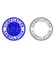 grunge compilation scratched stamp seals vector image vector image