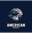 head an eagle vector image