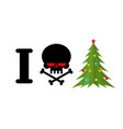 i hate christmas skull and bones symbol of hatred vector image vector image