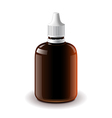 Medical dark plastic bottle isolated vector image
