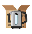modern electric kettle isolated on white vector image vector image