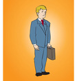 Office Man with attache vector image vector image