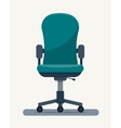 Office workplace chair with quote on paper vector image vector image