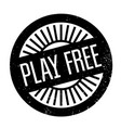 play free rubber stamp vector image vector image