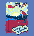 poster design with golf player vector image