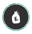 Pound GBP bag computer symbol vector image vector image