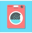 red washing machine in flat style vector image vector image