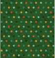 Retro polka dot pattern on green background vector image