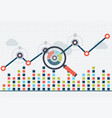 seo optimization and business web analytics vector image