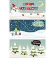 set christmas banner vector image vector image