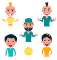 set of avatars characters with a different vector image vector image