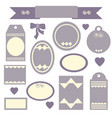 set of discount stickers and labels vector image vector image