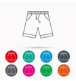 Shorts icon Casual clothes shopping sign vector image vector image