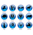 signs zodiac buttons vector image