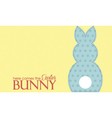 Single easter blue rabbit wording vector image