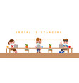 social distancing concept groups people vector image vector image
