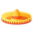sombrero mexican hat symbolic headdress vector image vector image