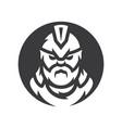 spartan warrior silhouette sign vector image vector image