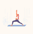 sport exercises yoga practice active lifestyle vector image