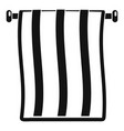 stripped towel icon simple style vector image vector image