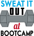 Sweat At Boot Camp vector image vector image
