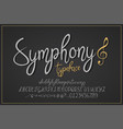 symphony vintage typeface vector image vector image
