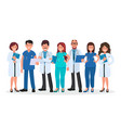 team doctors on a white background vector image