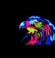 the abstract stylization eagle vector image vector image
