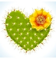 thorny heart vector image vector image