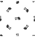toy truck pattern seamless black vector image vector image