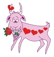 Valentine goat vector image vector image