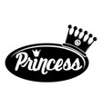 word princess crown icon simple black style vector image vector image