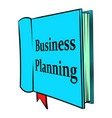 business planning icon cartoon vector image
