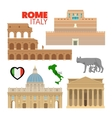 Rome Italy Travel Doodle with Architecture vector image