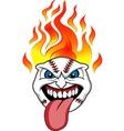 baseball fire vector image