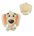Dog with a bone vector image