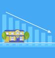 Real estate concept of the house and loan payment vector image