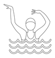 Dancing figure icon simple style vector image