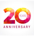 20 anniversary red logo vector image vector image