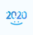 2020 numbers creative winter design happy new vector image vector image