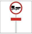 a ban on driving road sign for truck vector image