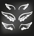 angel wings icon sketch collection abstract wings vector image