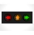 arrow traffic lights vector image vector image