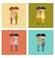 assembly flat icons homosexual gays lovers vector image vector image