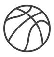 basketball ball line icon sport and game vector image vector image
