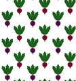 beet pattern Seamless texture with ripe beetroot vector image vector image