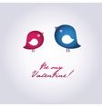 Birds on the love date Hand drawn background for vector image vector image