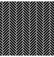 Black and white simple geo herringbone seamless vector image vector image