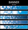 blue ellipse banner vector image vector image