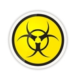 Bright biohazard modern icon with shadow on white vector image vector image